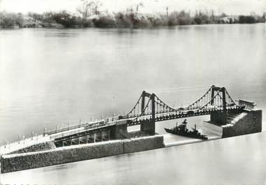 """CPSM FRANCE 76 """"Tancarville, Maquette du pont"""". / MAQUETTE"""