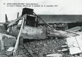 """76 Seine Maritime CPSM FRANCE 76 """"Saint Aubin sur Mer, Le treuil à bâteaux détruit par la tempête de 1977""""."""