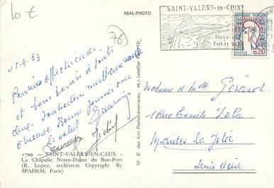 Cpsm france 76 st val ry en caux la chapelle notre dame - Saint valery en caux restaurant du port ...