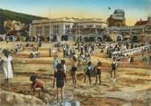 """76 Seine Maritime CPSM FRANCE 76 """"St Valéry en Caux, Jeux d'enfants sur le sable, le casino""""."""