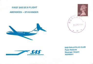 """LETTRE 1 ER VOL / GRANDE BRETAGNE """"Aberdeen / Stavanger, 2 avril 1980"""""""