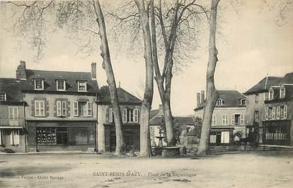 """CPA FRANCE 58 """"Saint Bénin d'Azy, Place de la République"""""""