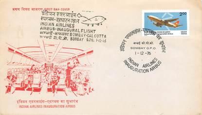"""LETTRE 1 ER VOL / INDES """"Bombay / Calcutta, 1er décembre 1976"""""""
