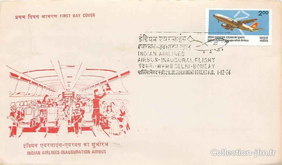 lettre 1 er vol indes new delhi bombay 1er d cembre 1976 1 er vol indes ref 142085. Black Bedroom Furniture Sets. Home Design Ideas