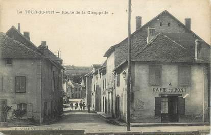 """CPA FRANCE 38 """"La Tour du Pin, Route de la Chapelle""""."""