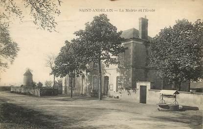 """CPA FRANCE 58 """"Saint Andelain, La Mairie et l'Ecole"""""""