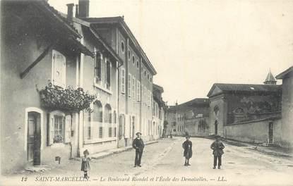 """CPA FRANCE 38 """"St Marcellin, Boulevard Riondel et l'école des Demoiselles""""."""