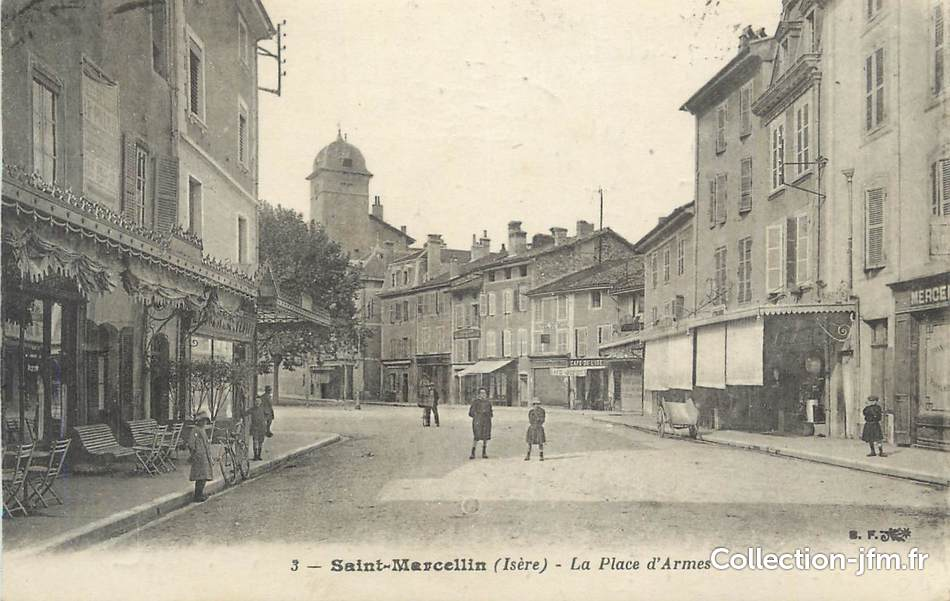 Cpa france 38 st marcellin la place d 39 armes 38 isere for St marcellin isere