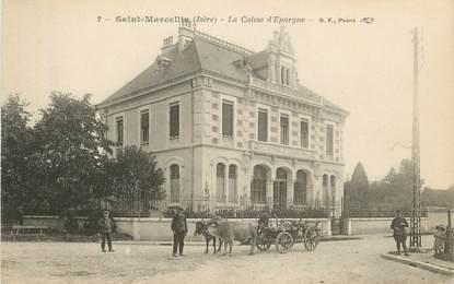 """CPA FRANCE 38 """"St Marcellin, La Caisse d'Epargne""""/ BANQUE"""