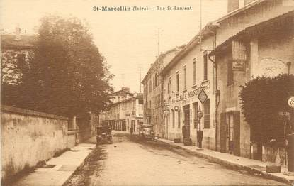 """CPA FRANCE 38 """" St Marcellin, Rue St Laurent""""."""