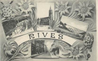 """CPA FRANCE 38 """" Rives, Vues""""."""