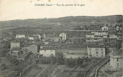 """CPA FRANCE 38 """"Chasse, Vue du quartier de la gare""""."""