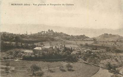 """CPA FRANCE 38 """"Murinais, Vue générale et perspective du château""""."""