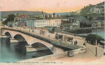 """CPA FRANCE 76 """" Rouen, Le pont Corneille""""."""
