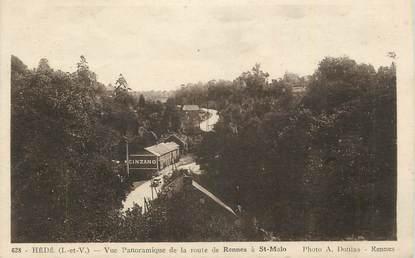 """CPA FRANCE 35 """"Hédé, Vue panoramique""""."""
