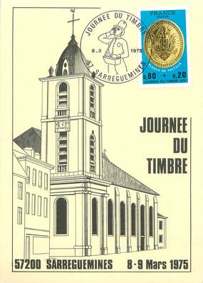 "CPM FRANCE 57 ""Sarreguemines, Journée du timbre de 1975""."