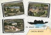 """18 Cher CPSM FRANCE 18 """" Chézal Benoit, Vues""""."""