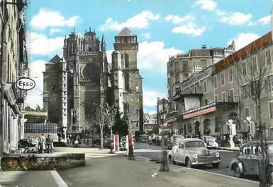 """CPSM FRANCE 12 """" Rodez, Avenue Victor Hugo et la cathédrale""""."""
