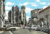 """12 Aveyron CPSM FRANCE 12 """" Rodez, Avenue Victor Hugo et la cathédrale""""."""