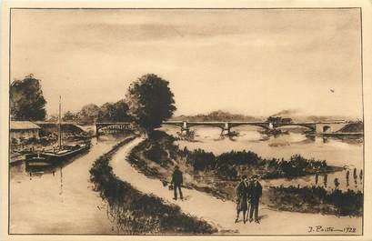 """CPA FRANCE 54 """" Toul, Le canal de l'Est et la Moselle""""."""