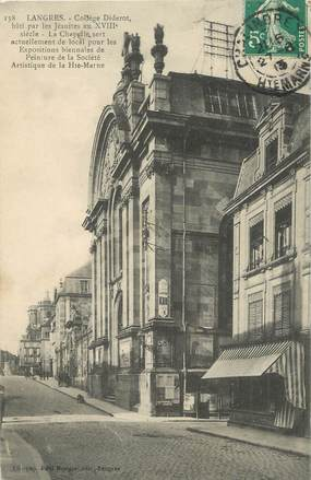 """CPA FRANCE 52 """" Langres, Collège Diderot""""."""
