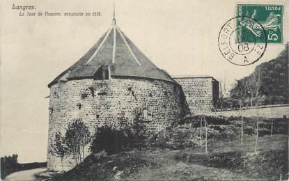 """CPA FRANCE 52 """" Langres, La tour de Navarre""""."""