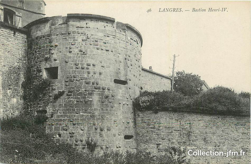 Cpa france 52 langres bastion henri iv 52 haute for 52 haute marne
