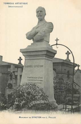 """CPA FRANCE 75 """" Paris 14ème, Cimetière de Montparnasse, Monument de Syveton""""."""