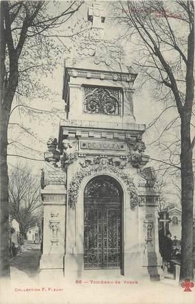 """CPA FRANCE 75 """" Paris 20ème, Cimetière du Père Lachaise, Tombeau de Ycaza""""."""