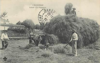 """CPA FRANCE 63 """" L'Auvergne, La Fenaison""""/ FOLKLORE"""