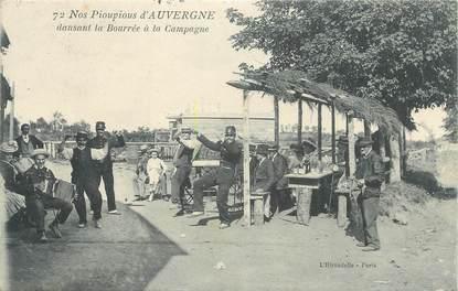 """CPA FRANCE 63 """" L'Auvergne, Pioupious dansant la bourrée à la campagne""""/ FOLKLORE"""