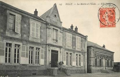 """CPA FRANCE 58 """"Billy, la Mairie et l'Rcole"""""""