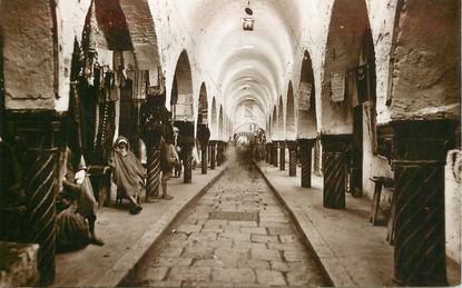 """CPA TUNISIE """"Tunis, Souk des Etoffes"""""""