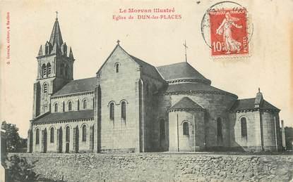 """CPA FRANCE 58 """"Dun les Places, L'Eglise"""""""