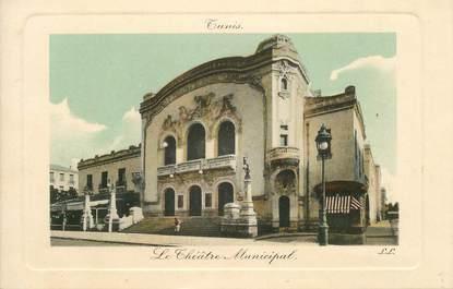 "CPA TUNISIE ""Tunis, le théâtre municipal"""