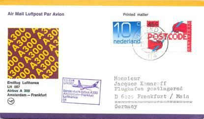 """LETTRE 1 ER VOL / PAYS BAS """"Amsterdam / Francfort, 1er mai 1978"""""""