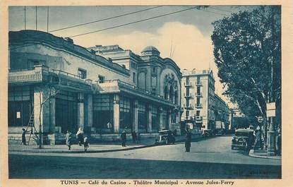 "CPA TUNISIE ""Tunis, Théatre, avenue Jules Ferry"""