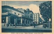 "Tunisie CPA TUNISIE ""Tunis, Théatre, avenue Jules Ferry"""