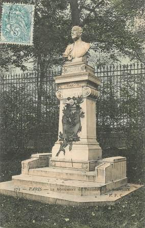 """CPA FRANCE 75 """" Paris 6ème, Le monument de Théodore de Banville"""". / POETE"""