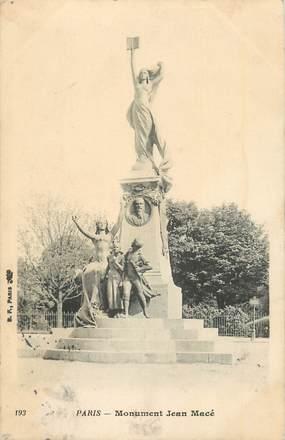 """CPA FRANCE 75 """" Paris 5ème, Le monument de Pelletier et Caventou"""". / PHARMACIENS"""