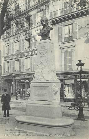 """CPA FRANCE 75 """" Paris 3ème, Monument à la mémoire du Baron Taylor"""". / HOMME D'ART"""