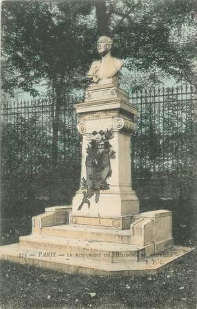 """CPA FRANCE 75 """" Paris 6ème, Monument de Théodore de Banville"""". / POETE"""