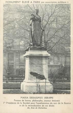"""CPA FRANCE 75 """" Paris 1er, Monument de Maria Deraismes""""."""