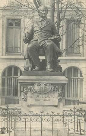 """CPA FRANCE 75 """" Paris 5ème, Monument Louis Blanc"""". / HOMME POLITIQUE HISTORIEN"""