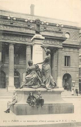 """CPA FRANCE 75 """" Paris 6ème, Monument Emile Augier"""". / POETE"""