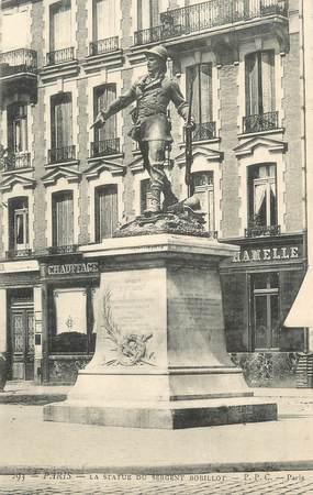 """CPA FRANCE 75 """" Paris 11ème, Statue du Sergent Bobillot"""". / JOURNALISTE"""