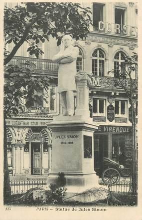 """CPA FRANCE 75 """" Paris 8ème, Statue de Jules Simon"""". / PHILOSOPHE"""