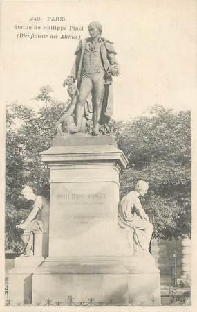 """CPA FRANCE 75 """" Paris 13ème, Statue de Philippe Pinel"""". / MEDECIN"""