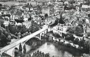 """86 Vienne CPSM FRANCE 86 """" La Roche Posay, Le pont sur la Creuse et la ville""""."""