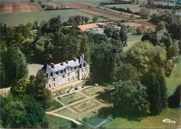 """CPSM FRANCE 86 """"Usson de Poitou, Le château de Badevilain""""."""